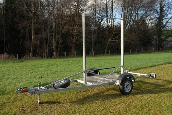 burtech c8 canoe kayak trailer chassis